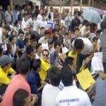 Students protest demanding release of stipend and scholarship